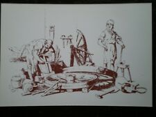 POSTCARD SOCIAL HISTORY RURAL INDUSTRY IN 19TH CENTURY - WHEELWRIGHTS MAKING CAR