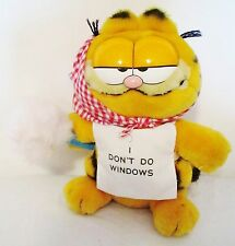 "9"" Vintage Garfield Maid I Don't Do Windows Plush Stuffed Animal Toy Cat Dakin"
