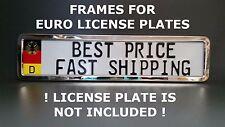 Metal Frame Steel Holder For European License Plate Stainless New