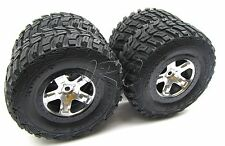 Traxxas Telluride 4x4 TIRES (4 wheels tyres preglued Kumho 12mm hex Slash 67044