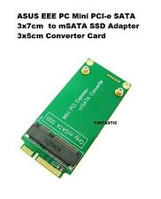 NEW ASUS EEE PC 3x7cm Mini PCI-e SATA to 3x5cm mSATA SSD Adapter Converter Card