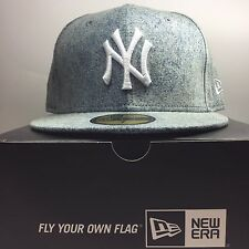 New Era 59Fifty New York Yankees SIZE 7 Fitted Baseball Cap  Free Post