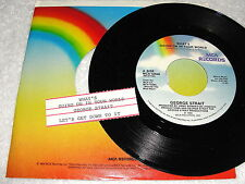 """George Strait """"What's Going On In Your World/Let's Get Down.."""" 45 RPM,7"""",Jukebox"""
