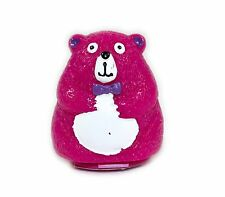 NEW Cute Bear Lip Balm Pot COTTON CANDY Flavour Sealed Moisturising Novelty