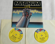 "MAGNUM Live UK Double 7"" 45 (2x7"") JET Records JET 175 (1980) NMINT"