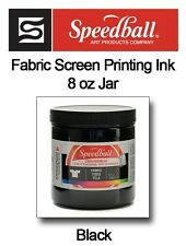 Speedball 8 oz Jar Screen Printing Fabric Ink BLACK 4560