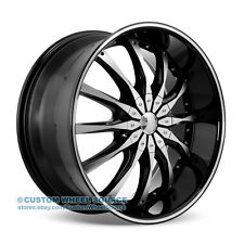 """20"""" Dcenti DW8 Black Wheel and Tire Package for Toyota Lexus Infiniti Nissan"""