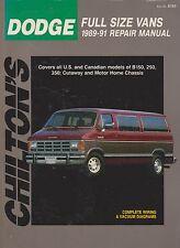 1989-1991 Chilton Dodge Full-Size Vans Repair Manual