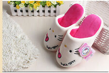 Hello Kitty Adult Ladies Girl Soft kawai Slippers Fleece Warm Rubber Sole 02