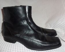 mens GUESS by Marciano black leather ankle boots size 13 NICE!