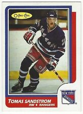 1986-87 OPC HOCKEY #230 TOMAS SANDSTROM 2ND YEAR - EXCELLENT+