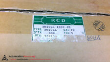 RCD PW10LL - PACK OF 400 - CERAMIC ENCASED RESISTOR, 10W, 500V,, NEW #209390