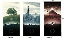 "LORD OF THE RINGS - Middle Earth Movie Wall Art Canvas Pic (3 Panels) 10""x20"""