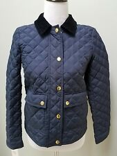 J.Crew Quilted Tack Jacket Style 02722 Navy outerwear coat jacket Size XS