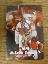 1979 Fixture Card: Baseball - St Louis Cardinals (fold out style). Any faults wi
