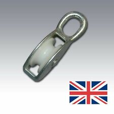40mm Single Pulley Block Fixed Eye Zinc for rope up to 9mm ideal for sailing