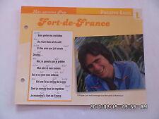 CARTE FICHE PLAISIR DE CHANTER PHILIPPE LAVIL FORT DE FRANCE