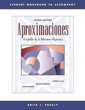 Aproximaciones al estudio de la literatura hispanica Student Workbook 4th ed NEW