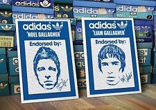 ADIDAS Originals Noel And Liam Gallagher Oasis A3 art Prints Pair Manchester