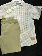 NEW BOYS OFFICIAL SPANISH/ROMANY BEIGE SHORTS & SHIRT/TOP SET OCCASION 6 YEARS