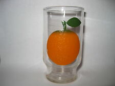 "Rare Vintage Orange Juice Drinking Glass - 4 1/8 "" Tall"