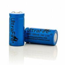 6x UltraFire 16340 (CR123A) Akku Batterien 1200mA 3,6V Li-Ion Wiederaufladbare