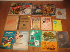 Antique/Vintage lot of 15 Rare Paperback Cookbooks & Cooking Manuals /Cook Books