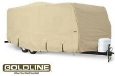Goldline RV Cover Travel Trailer 12 to 14 foot Tan