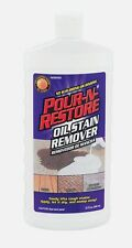 32oz POUR N RESTORE Oil Grease STAIN REMOVER Decks Patio Garage Driveways Cement