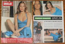 CAROLE CHAUVET french actress 1976 Hola cover and inside page clippings sexy