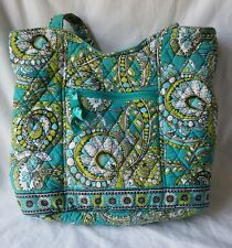 Vera B radley Aqua/Lime Green/White/Blue/Brown Tote Bag