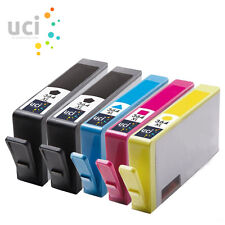 5 Chipped Inks For HP 364XL Photosmart 5510 3520 5520 5524 7510 b110a NonOEM