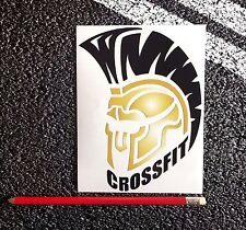 Crossfit Spartan Sticker 10cm Ipad wall art workout Wod Amrap Fran Beast