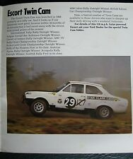 FORD ESCORT Mk1 TWINCAM   BROCHURE range early RS