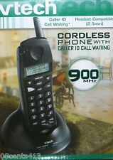 VTech (9127) Black 900 MHz Analog Cordless Phone w/ Caller ID & Power *READ*