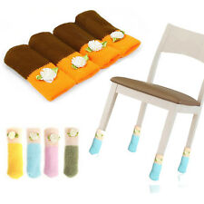4Pcs Chic Table/Chair Furniture Foot Covers Leg Socks Anti-skip Floor Protector