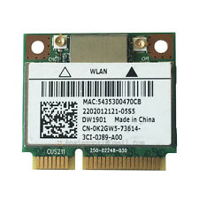 ATHEROS AR5B22 AR9462 DUAL BAND N + BLUETOOTH BT WIRELESS WIFI CARD DW1901 K2GW5