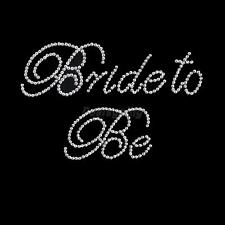 "Clear ""Bride to Be"" Rhinestone Sticker for Bridal Wedding DIY Bachelorette"
