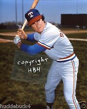 JIM SUNDBERG Photo in action Texas Rangers (c) Gold Glove