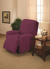PURPLE CHAIR COVER-ALSO COMES IN SOFA COUCH LOVESEAT RECLINER FUTON SLIPCOVER