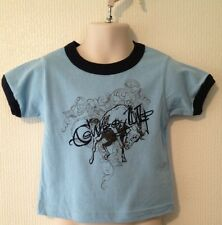 NEW Cowboy Up Boys Toddler Sz 4 shirt Blue Horse Cute Western Rodeo