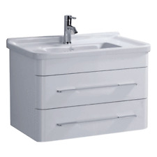600mm Bathroom Wall Mounted Vanity Unit White Ceramic Basin Sink ECL20001