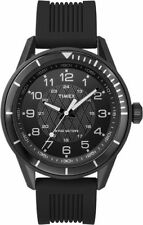 Timex T2P383, Men's Black Resin Sport Strap Watch, 50 Meter WR, T2P3839J