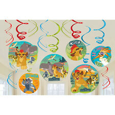 12 Disney The Lion Guard King Party Dangling Cutout Swirl Decorations