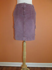 New J. Jill Womens Size 6 Washed Plum Purple Corduroy Active Cord Cargo Skirt