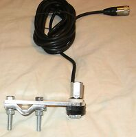 MCR Double Groove Flat Bar Mirror Mount Kit with Cable CB Aerial / Antenna