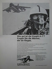 5/1971 PUB LTV VOUGHT AERONAUTICS A-7 PILOT HELMET CASQUE ORIGINAL GERMAN AD