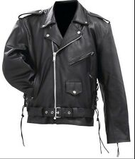 Rocky Mountain Hides Solid Genuine Cowhide Leather Classic Motorcycle Jacket 3XL