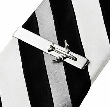 Airplane Tie Clip - Tie Bar - Tie Clasp - Business Gift - Handmade - Gift Box