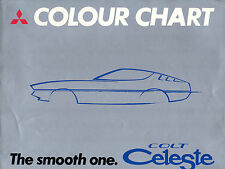 Mitsubishi Colt Celeste Colour & Trim 1975-76 Multilingual Foldout Brochure